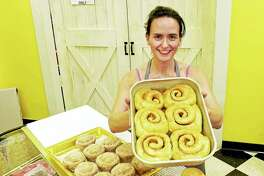 Maggie Root, owner of Momma Root's Gourmet Bake Shop on Amity Road in Woodbridge.