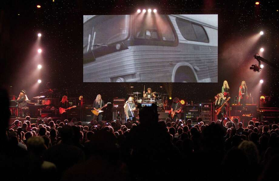 "Lynyrd Skynyrd takes the stage at ""One More For The Fans - Celebrating The Songs & Music Of Lynyrd Skynyrd"" concert event at The Fox Theatre on Nov. 12, 2014, in Atlanta (Photo by Dan Harr/Invision/AP Images) Photo: Dan Harr/Invision/AP / Invision"