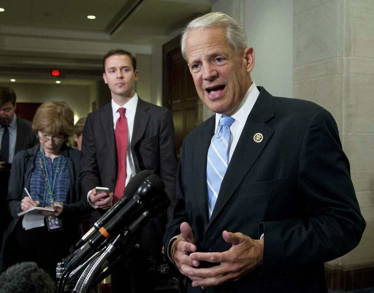 In this July 15, 2015 photo, Rep. Steve Israel, D-N.Y., speaks to reporters on Capitol Hill in Washington, after attending a meeting with Vice President Joe Biden and the House Democratic Caucus to talk about the Iran nuclear deal.