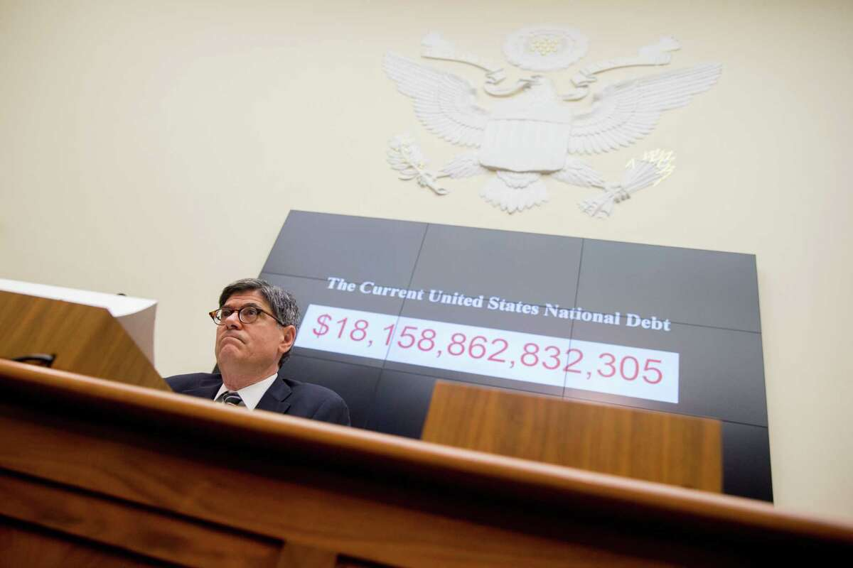 Treasury Secretary Jacob Lew testifies before a House Financial Services committee hearing on the annual report of the Financial Stability Oversight Council on Capitol Hill in Washington on June 17.