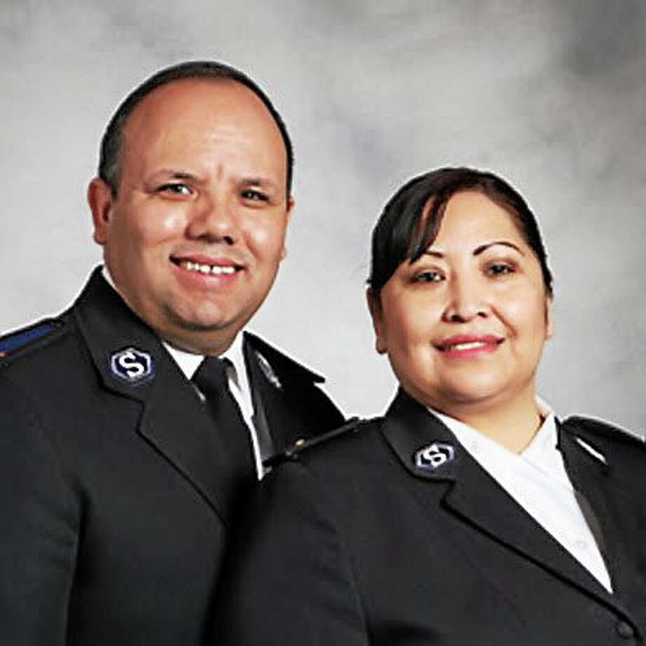 Submitted photo. Jose and Raquel Hernandez took over the Salvation Army office in Middletown in June. Photo: Journal Register Co.
