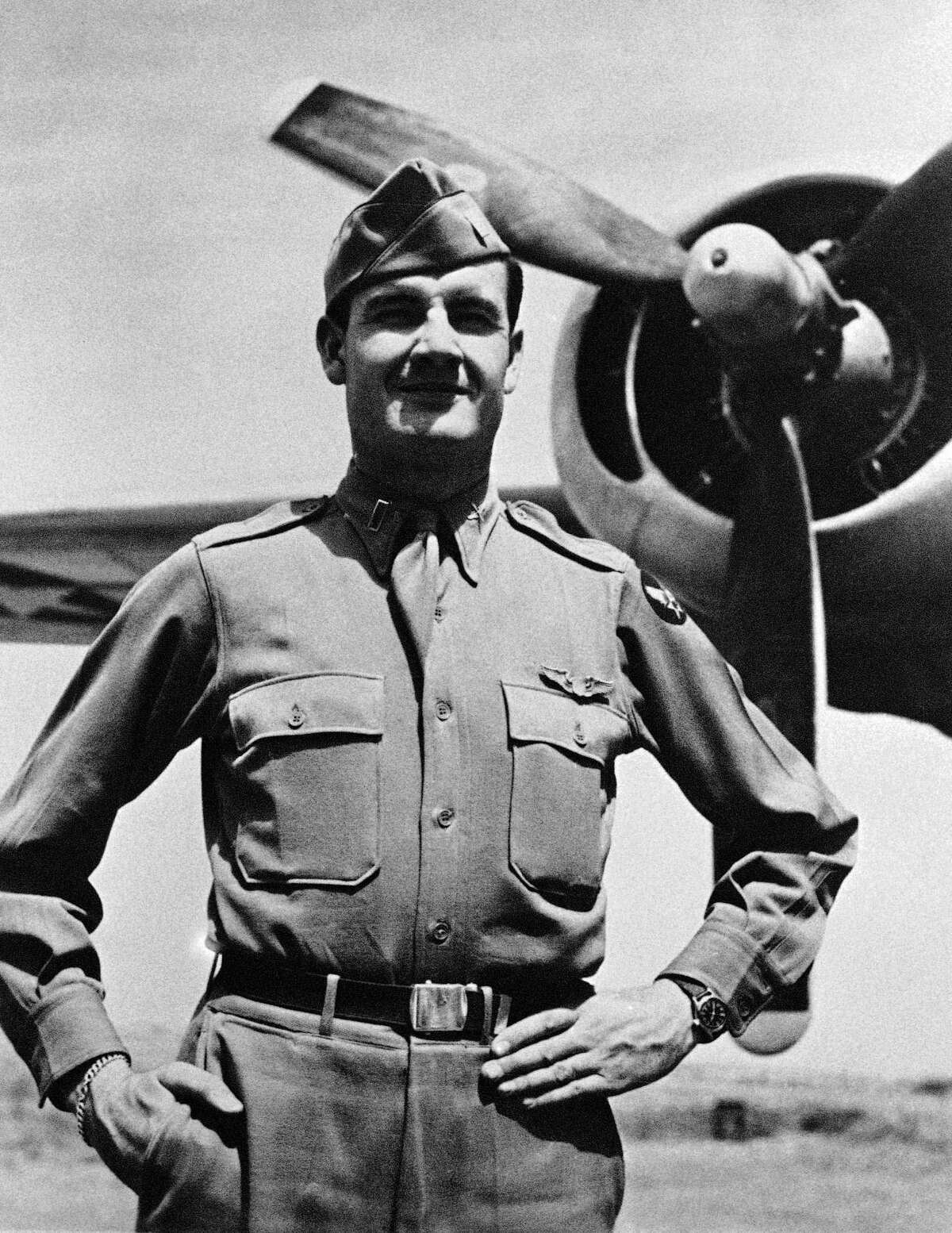 This 1944 photo shows George McGovern when he received the Distinguished Flying Cross. McGovern died Oct. 21, 2012.
