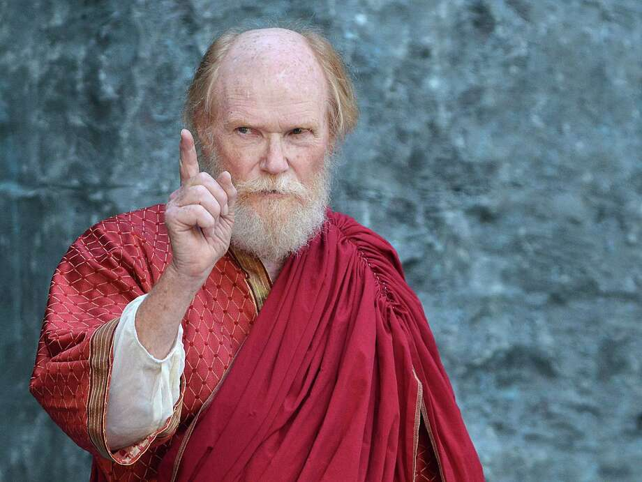 John Basinger as Lear in Artfarm's presentation of King Lear as part of Shakespeare in the Grove at Middlesex Community College in Middletown. Photo: Catherine Avalone/The Middletown Press