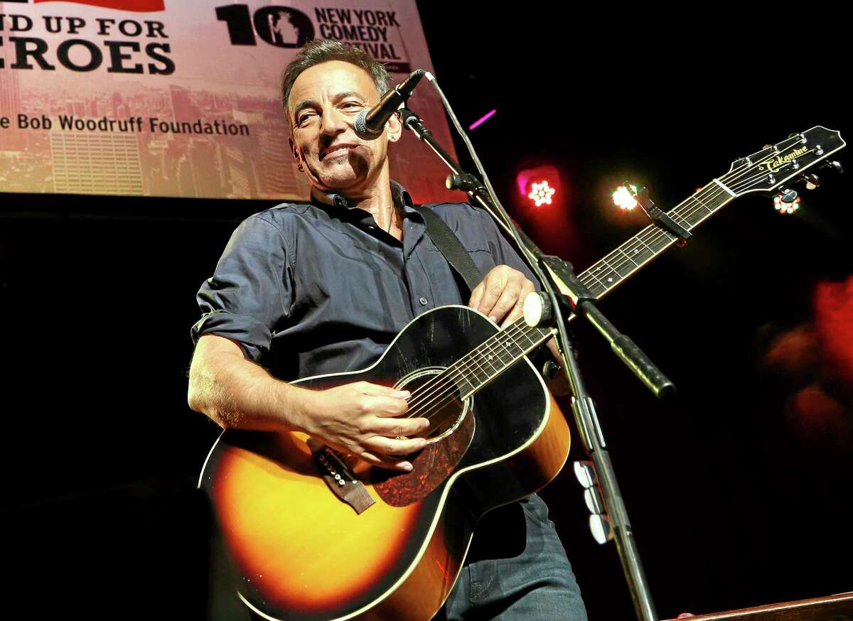 In this Nov. 6, 2013 photo, musician Bruce Springsteen performs at the Stand Up for Heroes event at Madison Square Garden, in New York.