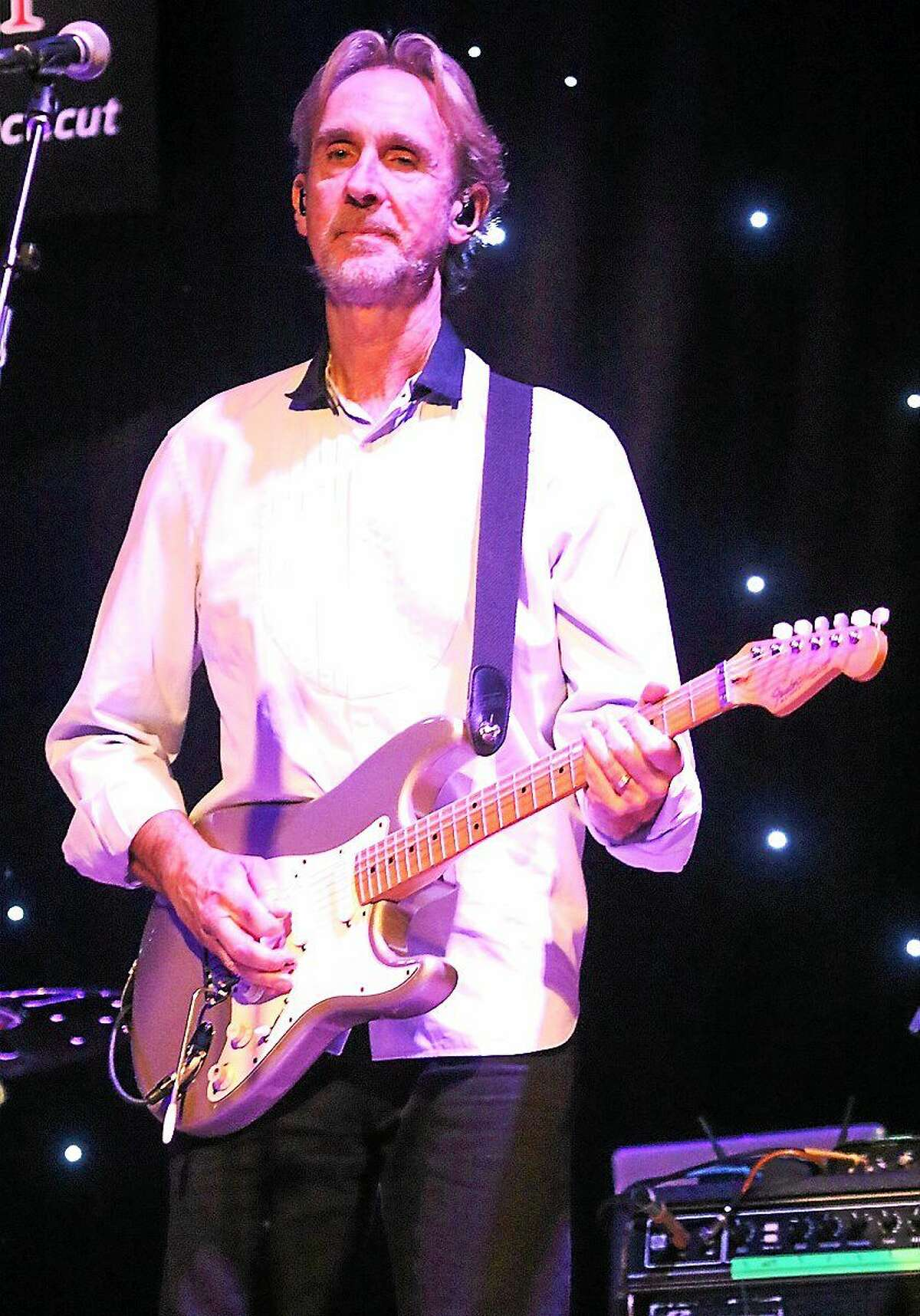 Photo by John Atashian Singer, songwriter and guitarist Mike Rutherford of Mike + the Mechanics is shown performing on stage at Infinity Hall in Hartford on Sunday March 8. Mike + The Mechanics are an English pop & rock supergroup formed back in 1985 as a side project of Mike Rutherford, one of the original band members of the group Genesis.