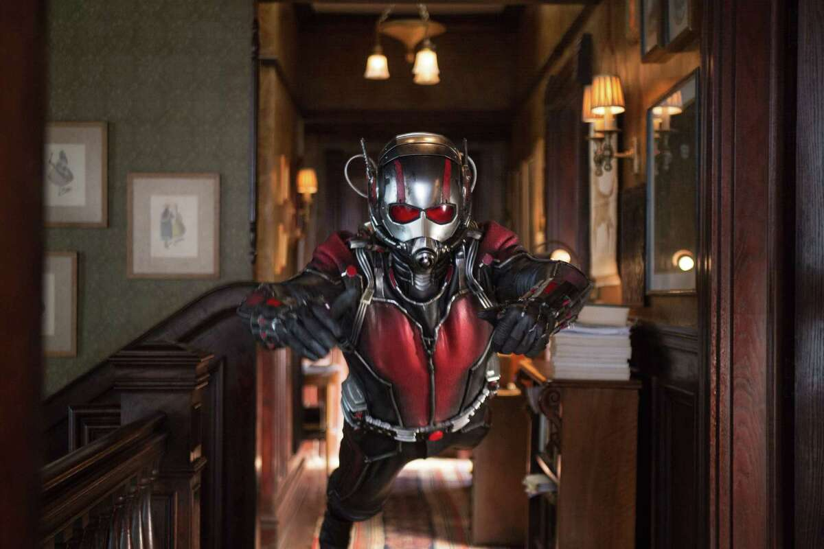 """This photo provided by Disney shows Paul Rudd as Scott Lang/Ant-Man in a scene from Marvel's """"Ant-Man."""" The film releases in the U.S. on July 17, 2015."""