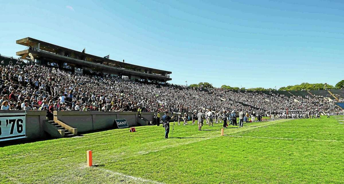 """Temporary lighting will need to be set up at Yale Bowl for the 2:30 p.m. start time in """"The Game"""" vs. Harvard in November."""