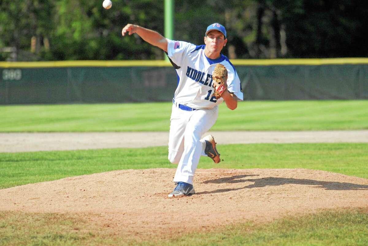 Middletown pitcher John Mormile tossed seven shutout innings in Post 75's win against Westport.
