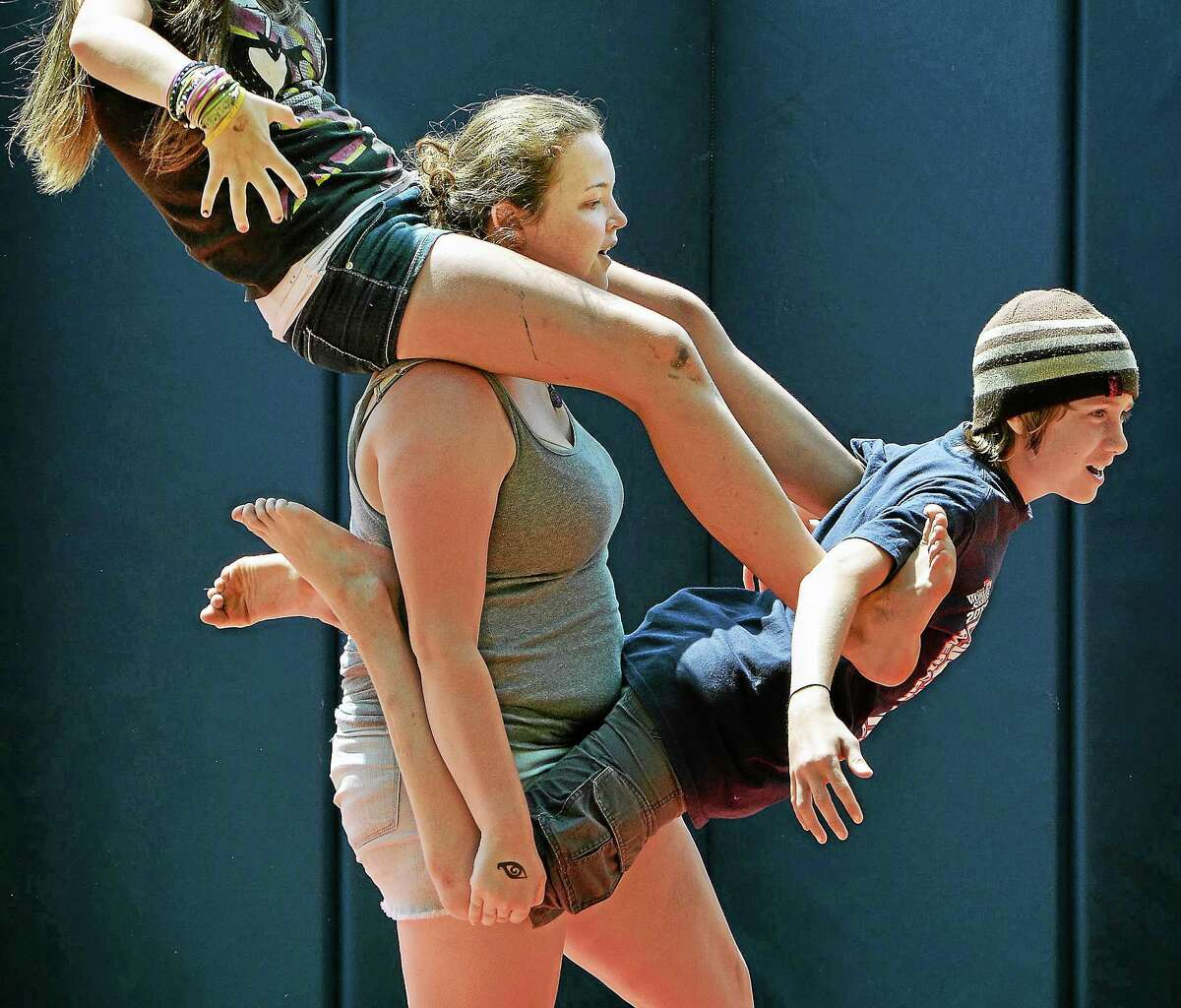 Campers and counselors rehearse Friday afternoon for Oddfellows Playhouse Youth Theater's 26th annual Children's Circus of Middletown: Circus Saves the Day! The performance is Aug. 1 at 5 p.m. at Macdonough Elementary School in Middletown.