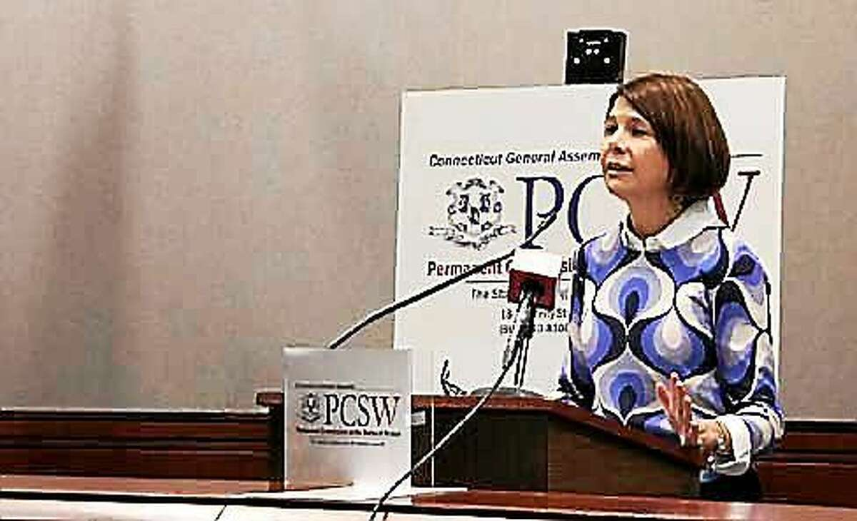 Permanent Commission on the Status of Women Director Carolyn Treiss. Kristi Allen - CTNewsJunkie