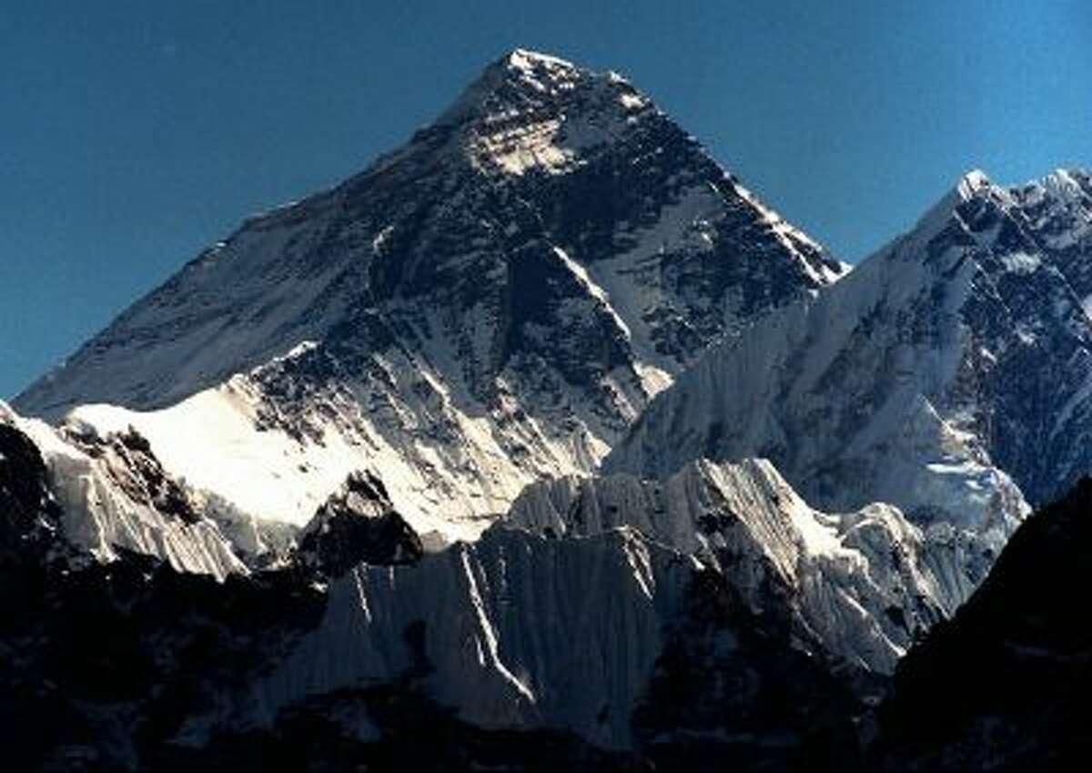 Mount Everest (8.848m) seen from peak Gokyo Ri (5.431m) in Nepal.