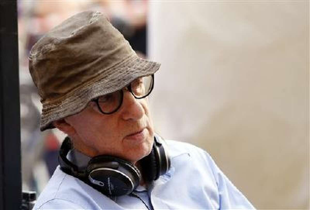 """In this July 14, 2011 file photo, filmmaker Woody Allen is shown on the set of his movie """"The Bop Decameron"""" in Rome."""