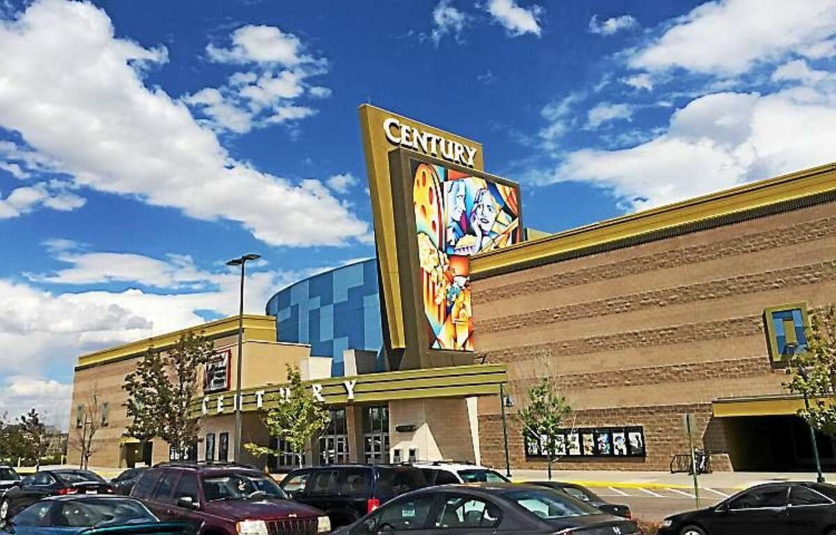 The new Century movie theater in Aurora, Colorado, which sits in the same spot where a mass shooting took place on July 20, 2012.
