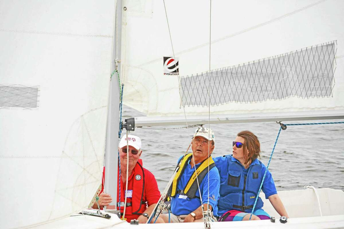 Special Olympian sailors with coaches and partners competed in the second annual Special Olympics Invitational Regatta in Essex recently.