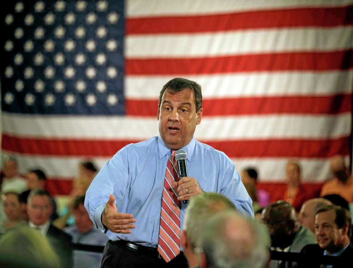 In this June 2 file photo, New Jersey Gov. Chris Christie addresses a gathering at a town hall meeting in Haddon Heights, N.J. Christie is chairman of the Republican Governors Association.