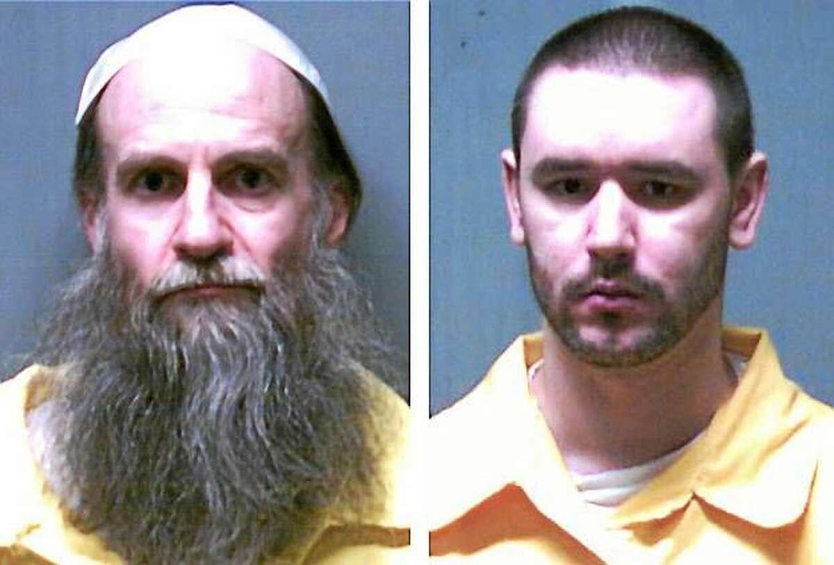 Death row inmates Steven Hayes, left, and Joshua Komisarjevsky