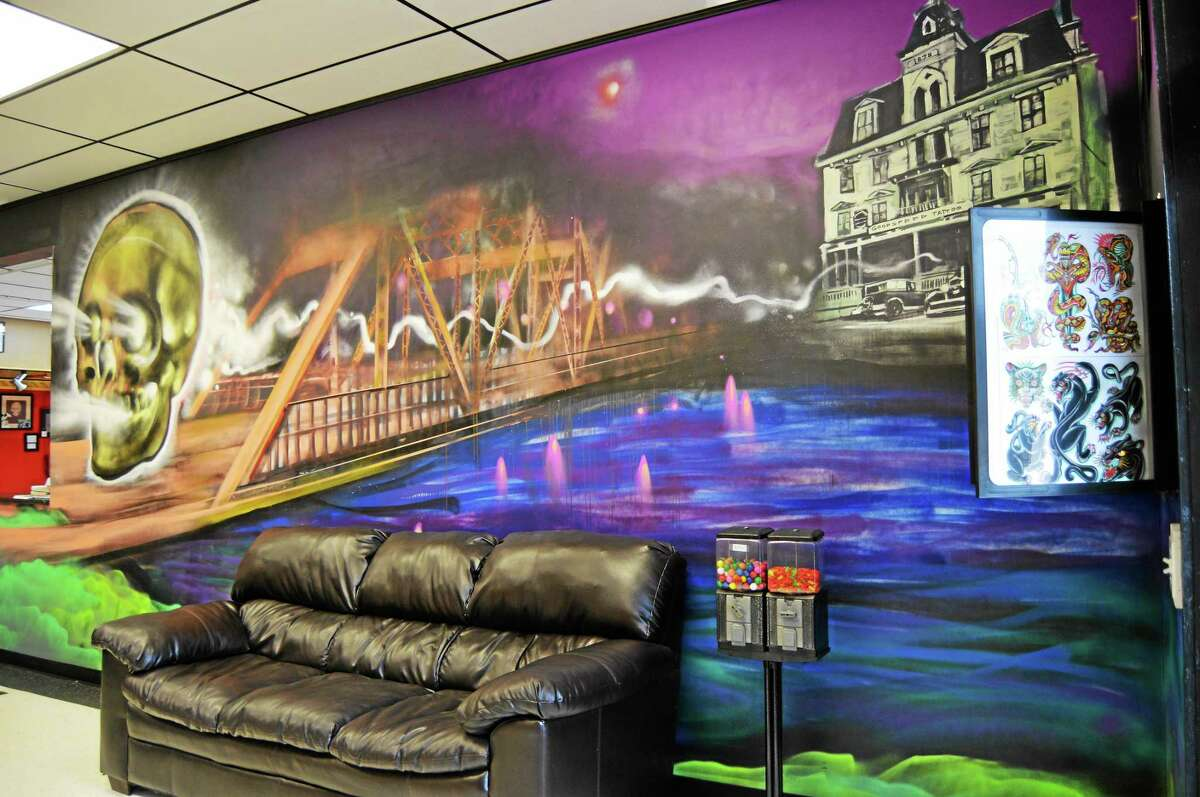 Goodspeed Tattoo in Haddam boasts a clean, open, well-lit floorplan highlighted by murals painted by graffitti artist Olaf Aspelin.
