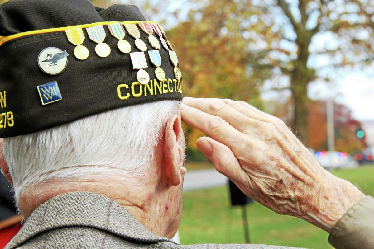 Several World War II veterans were among those honored in Middletown during the ceremony on Washington Street Tuesday.