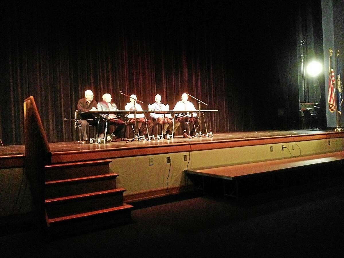 Local veterans spoke to students at Portland High School this week.