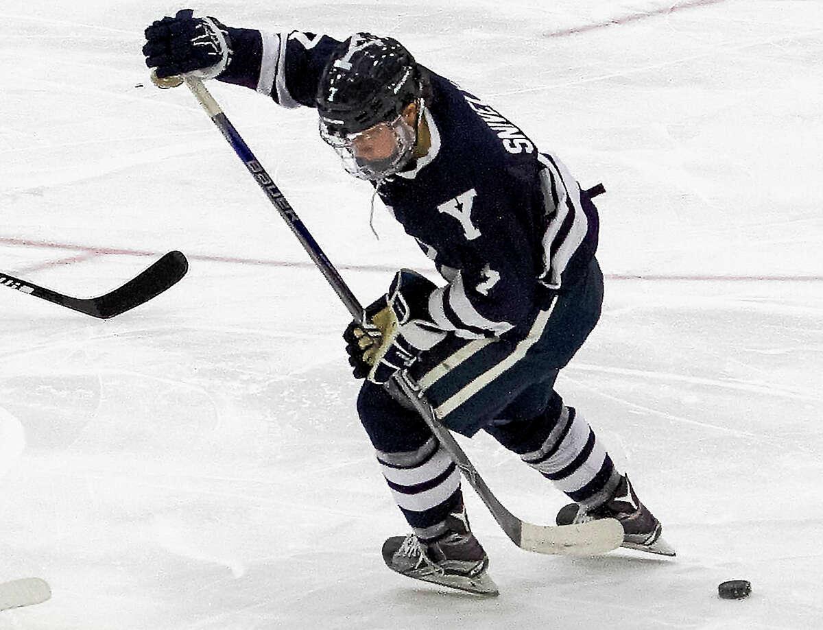 Yale freshman Joe Snively scored both goals in the Bulldogs' 2-2 tie at Harvard on Friday night.