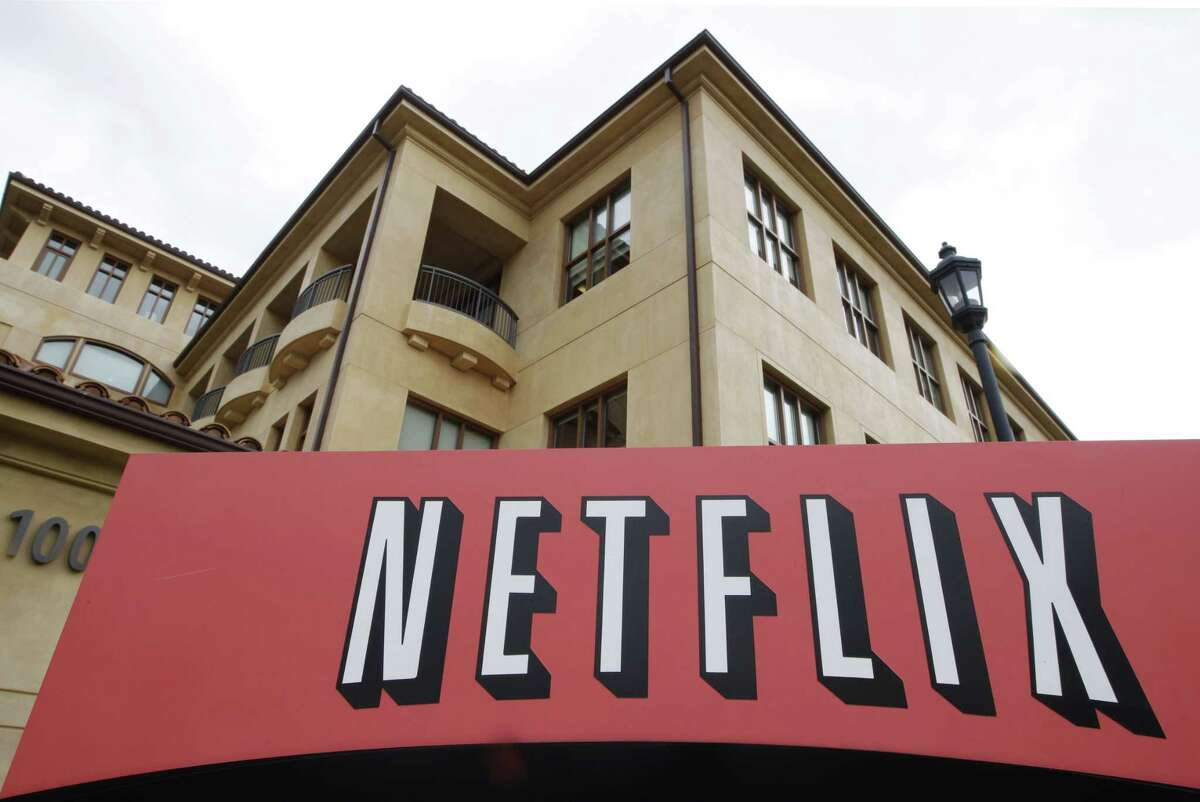 The exterior of Netflix headquarters is seen in Los Gatos, Calif.