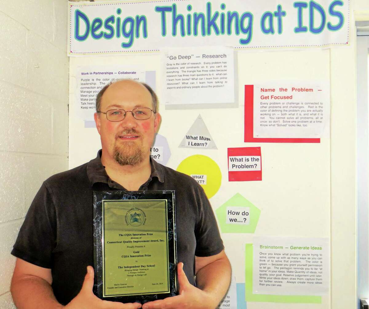 Andrew Watt is the director of the Independent Day School's Design Thinking Program in Middlefield.