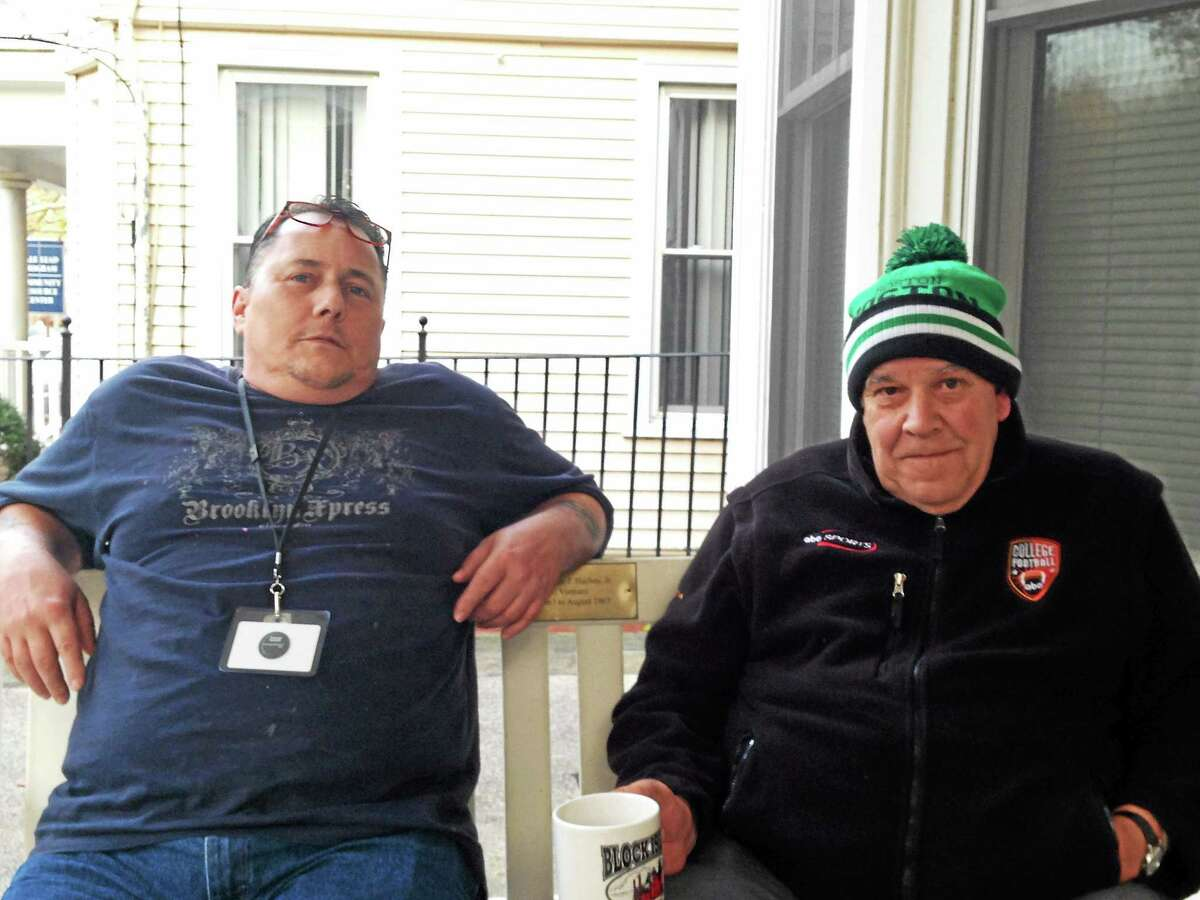 Sean Hanlon, left, and Robert Tirrell live at Columbus House's Harkness House for veterans.