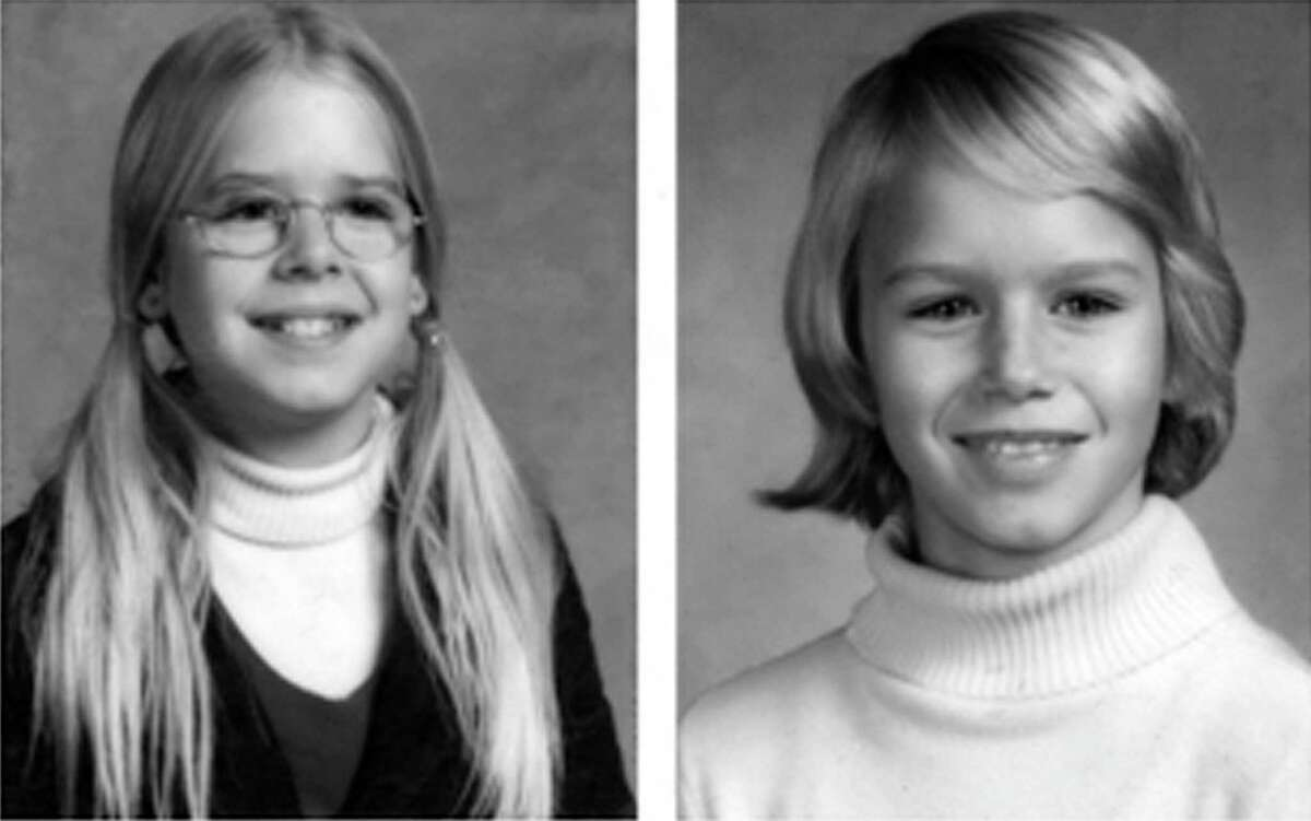 """FILE - This file handout image provided by the Montgomery County, Md., Police Department shows photos from the original missing person/suspicious circumstances bulletin for the 1975 disappearance of two sisters in Maryland, Sheila Lyon and Katherine Lyon, who never returned home from a shopping mall. Police and prosecutors from Montgomery County, Maryland, and Bedford County, Virginia, will hold a news conference Wednesday, July 15, 2015, in Wheaton, Md., to announce what they call """"significant developments"""" in the 40-year-old case. (AP Photo/Montgomery County, Md., Police Department)"""
