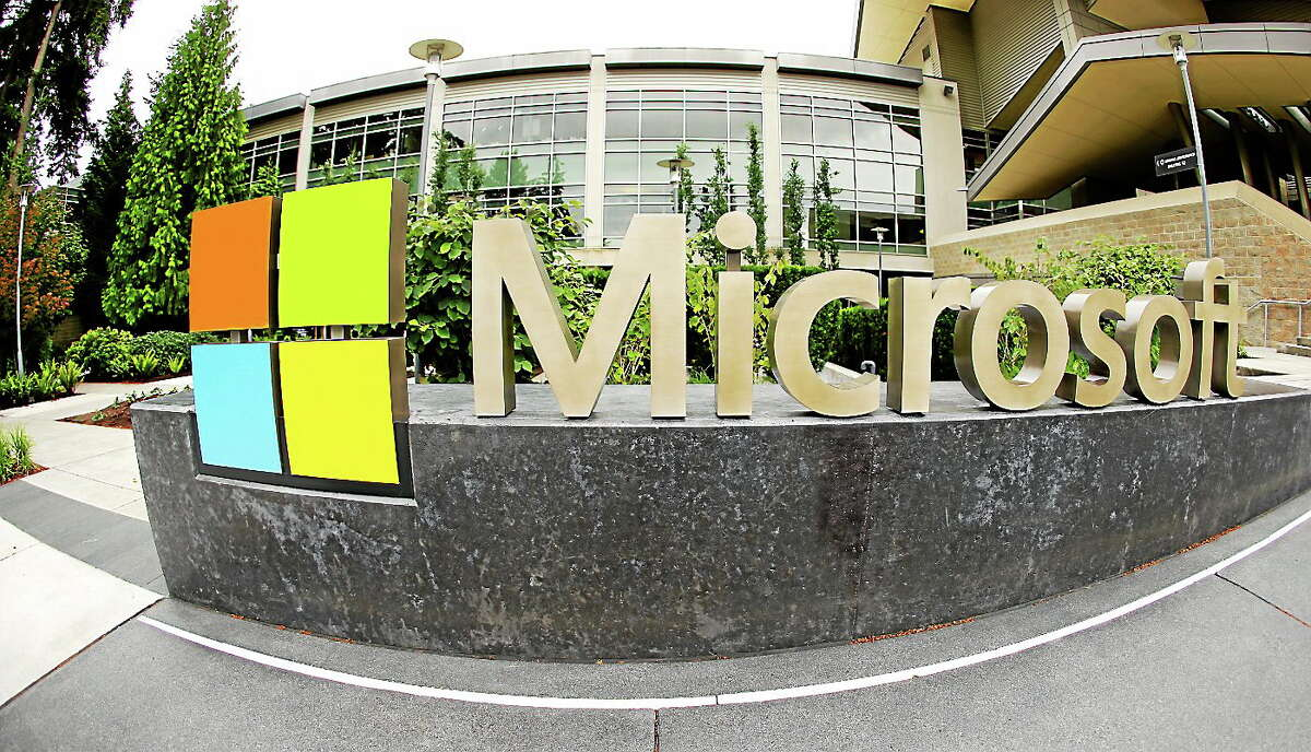 (AP Photo Ted S. Warren) Microsoft Corp. signage outside the Microsoft Visitor Center in Redmond, Wash.