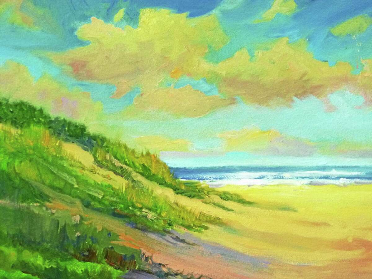 """Image courtesy of the artist """"Dunes"""" by Linda Lilling of Glastonbury is included in the Maple and Main Gallery's summer show."""