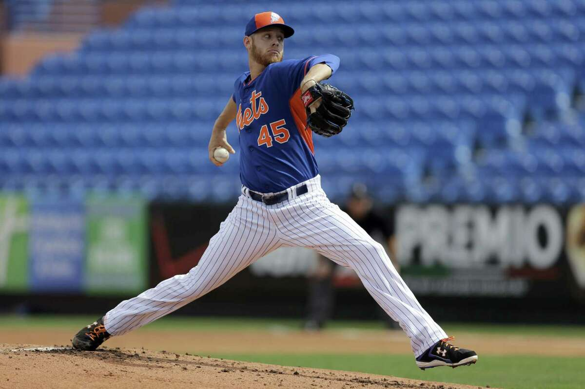 New York Mets pitcher Zack Wheeler throws during an intrasquad game on March 3 in Port St. Lucie, Fla.