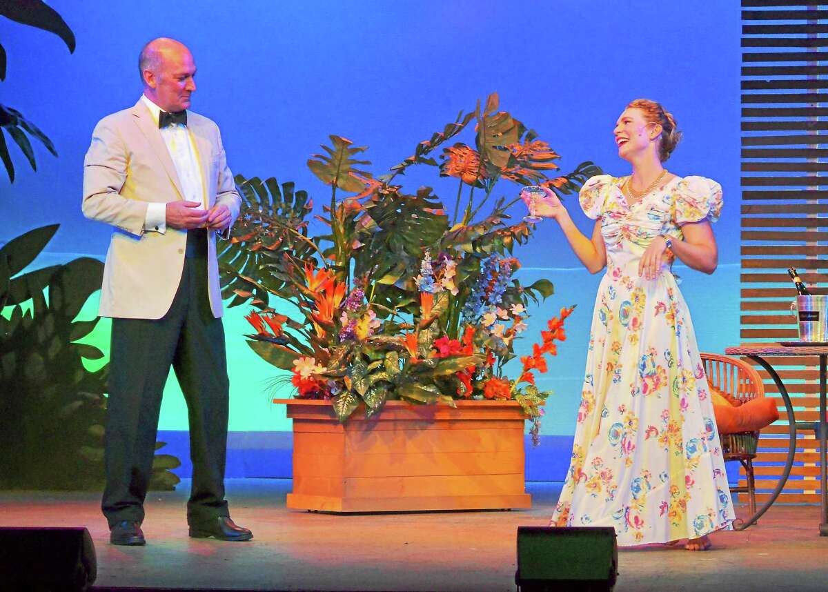 """Photos courtesy of Ivoryton Playhouse David Pittsigner and Adrianne Hick in a scene from """"South Pacific"""" playing at the Ivoryton Playhouse."""