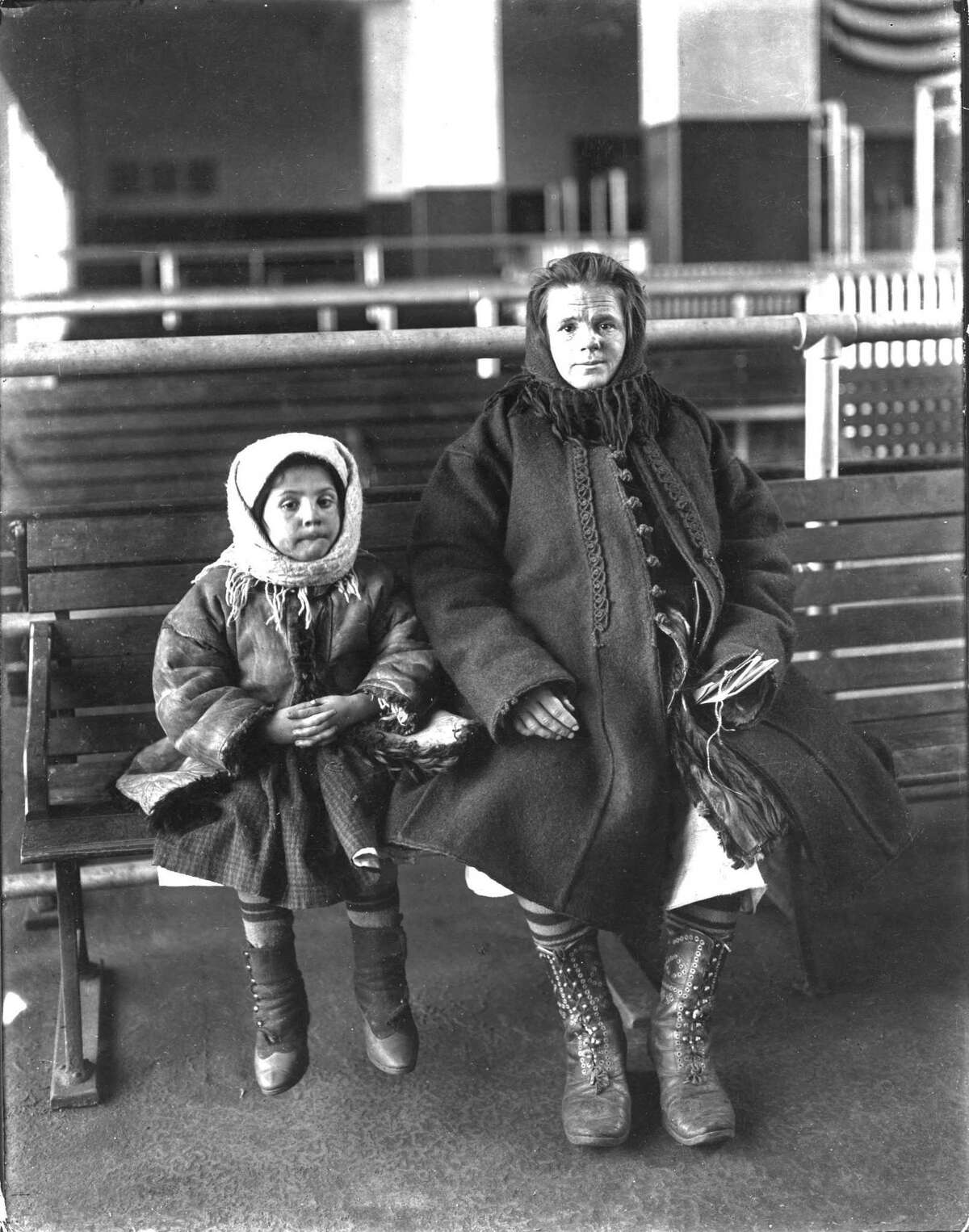 This undated photo provided by Brown Brothers shows a mother and child at Ellis Island in New York. A Pennsylvania-based stock photography company founded in Manhattan 110 years ago is looking to sell its collection of more than 1 million photographs and negatives, including tens of thousands of black-and-white images of New York City before World War II.