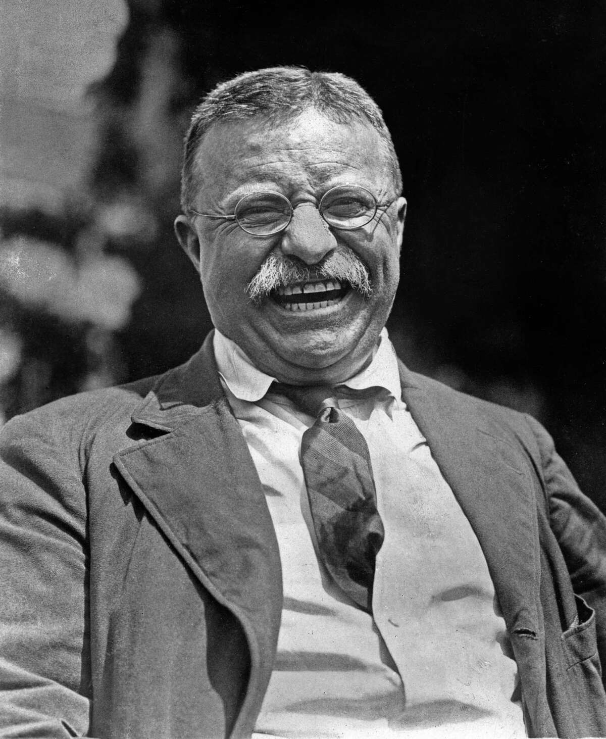 This photo provided by Brown Brothers shows Teddy Roosevelt at his Oyster Bay, N.Y., home in 1912. A Pennsylvania-based stock photography company founded in Manhattan 110 years ago is looking to sell its collection of more than 1 million photographs and negatives, including tens of thousands of black-and-white images of New York City before World War II.