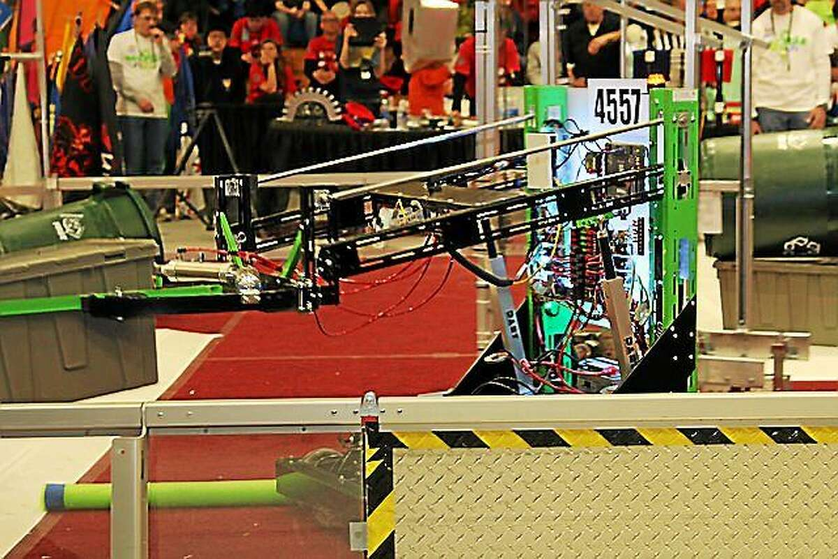 Xavier's FIRST Robotics robot, named The Claw.
