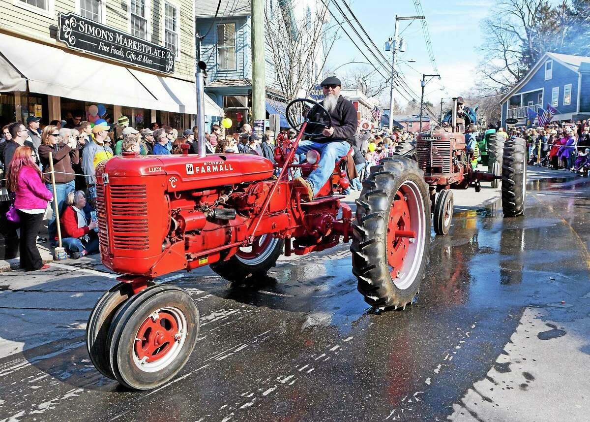 The annual tractor parade through Chester.
