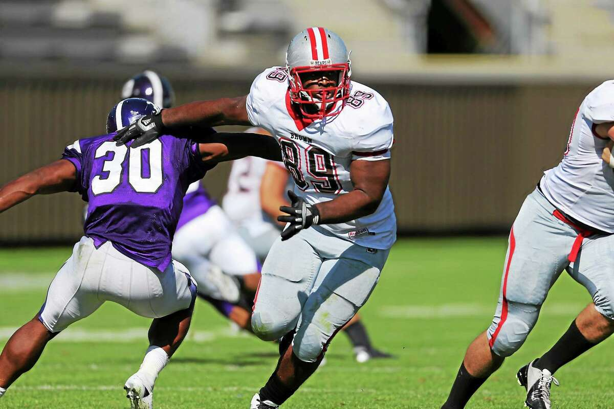 Notre Dame-West Haven grad Ludovic Richardson is now a standout junior defensive lineman at Brown.