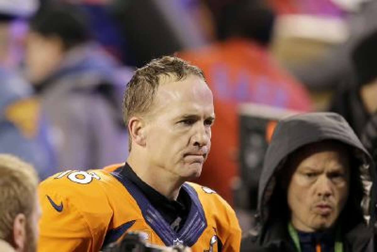 Denver quarterback Peyton Manning didn't have the best of games during the Super Bowl.
