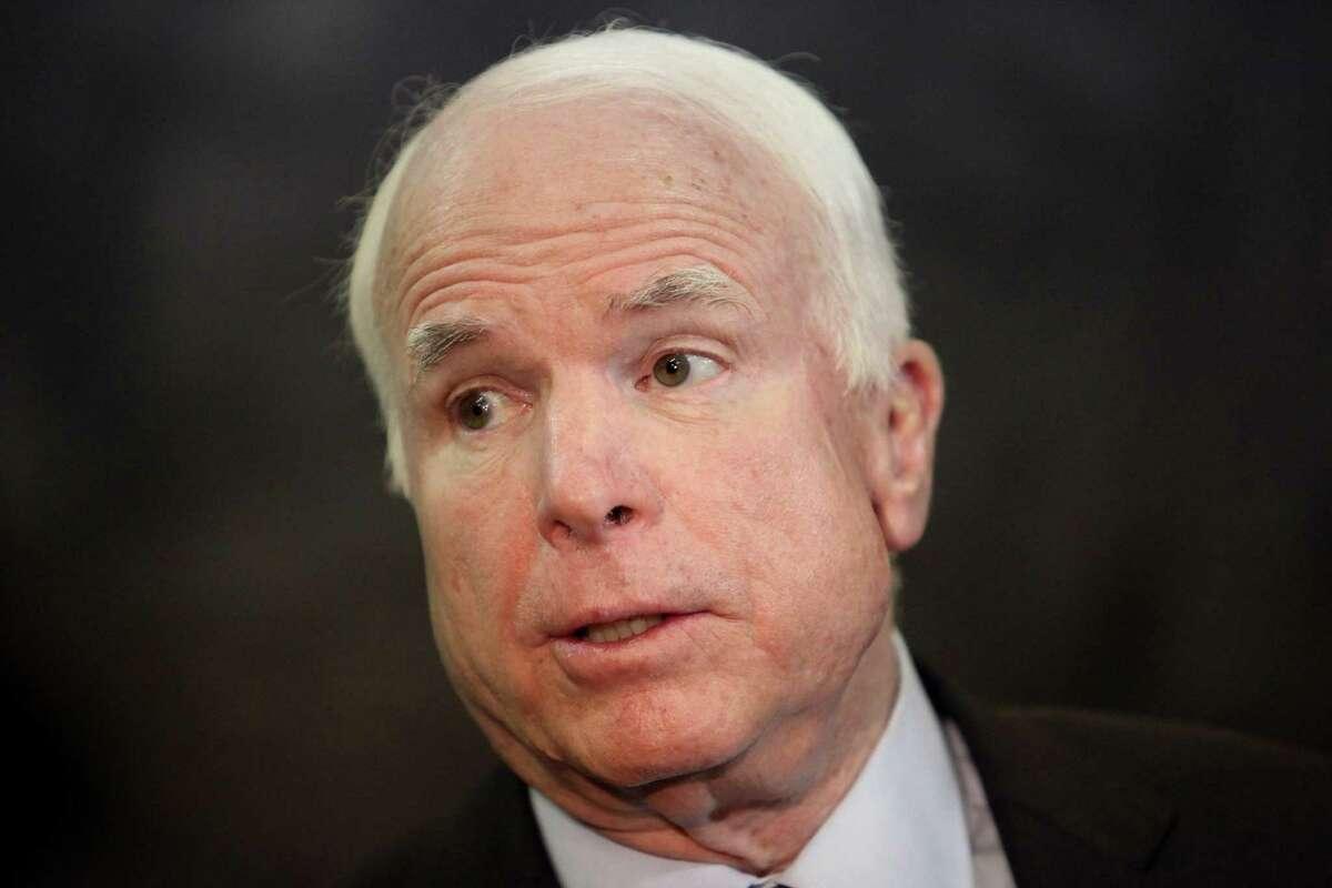 U.S. Sen. John McCain, R-Ariz., will speak Monday at a chamber breakfast in Cromwell.