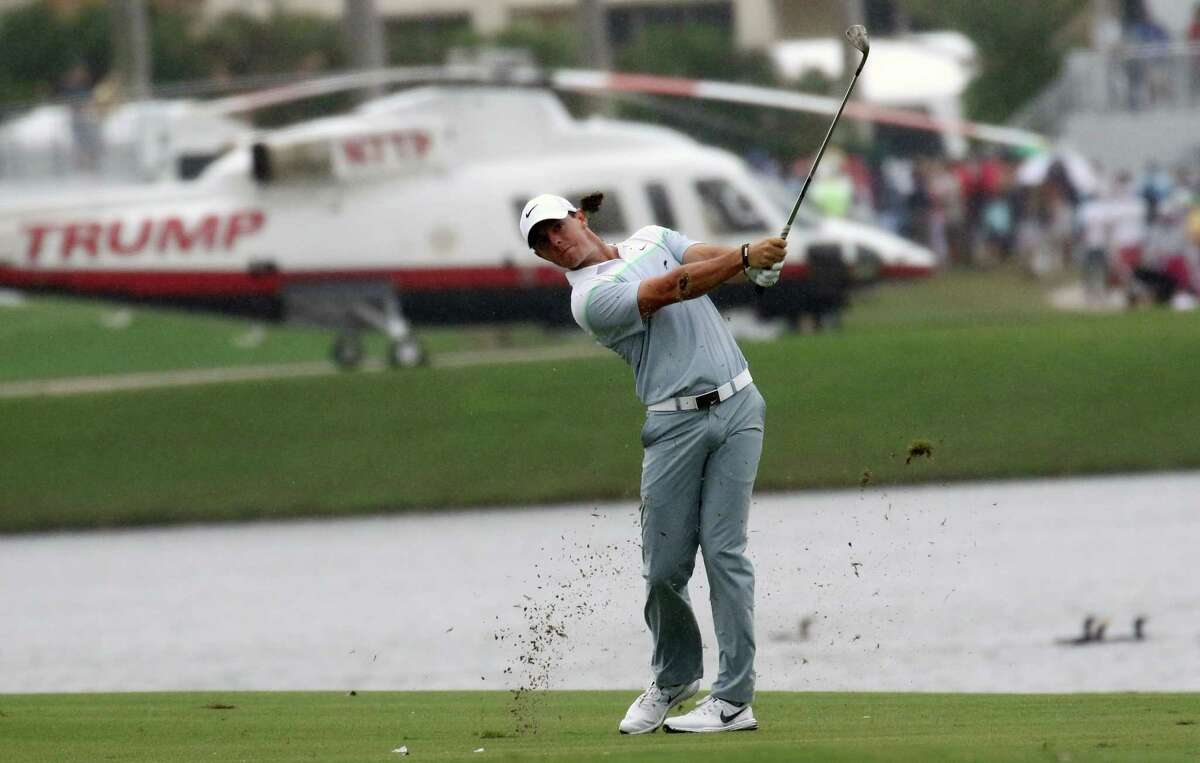 Rory McIlroy hits from the ninth fairway during the final round of the Cadillac Championship.