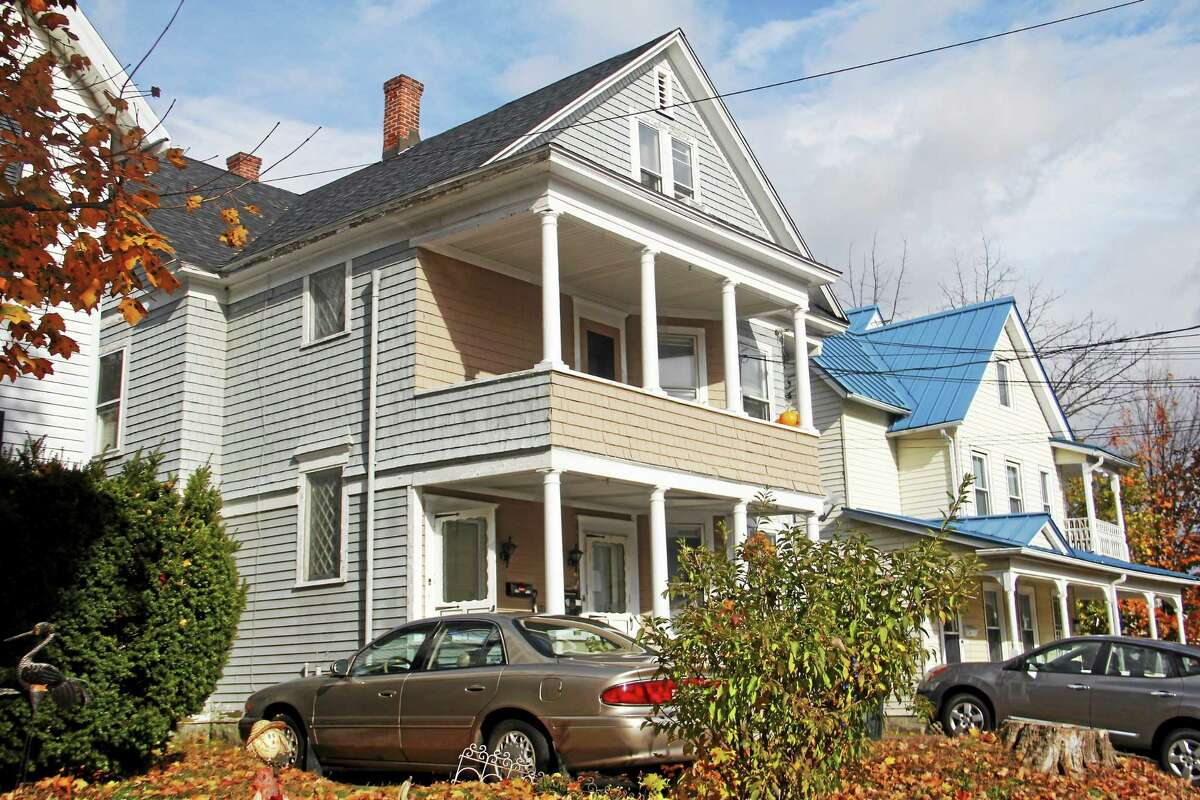Outside 30 Forest St. in Torrington Friday, Nov. 7, where police said an 18-year-old man killed his mother Thursday before fleeing to New York, where he was apprehended.