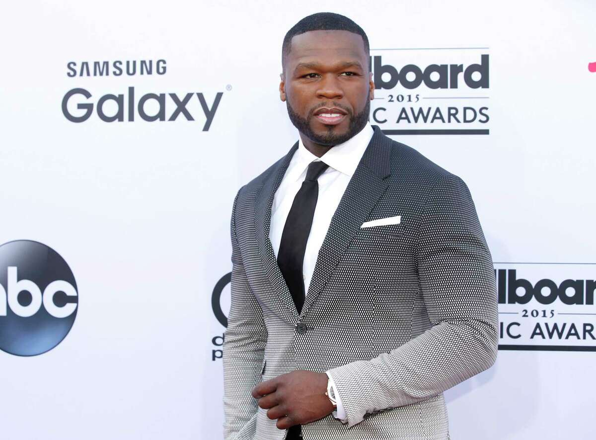 In this May 17, 2015 photo, 50 Cent arrives at the Billboard Music Awards at the MGM Grand Garden Arena in Las Vegas.