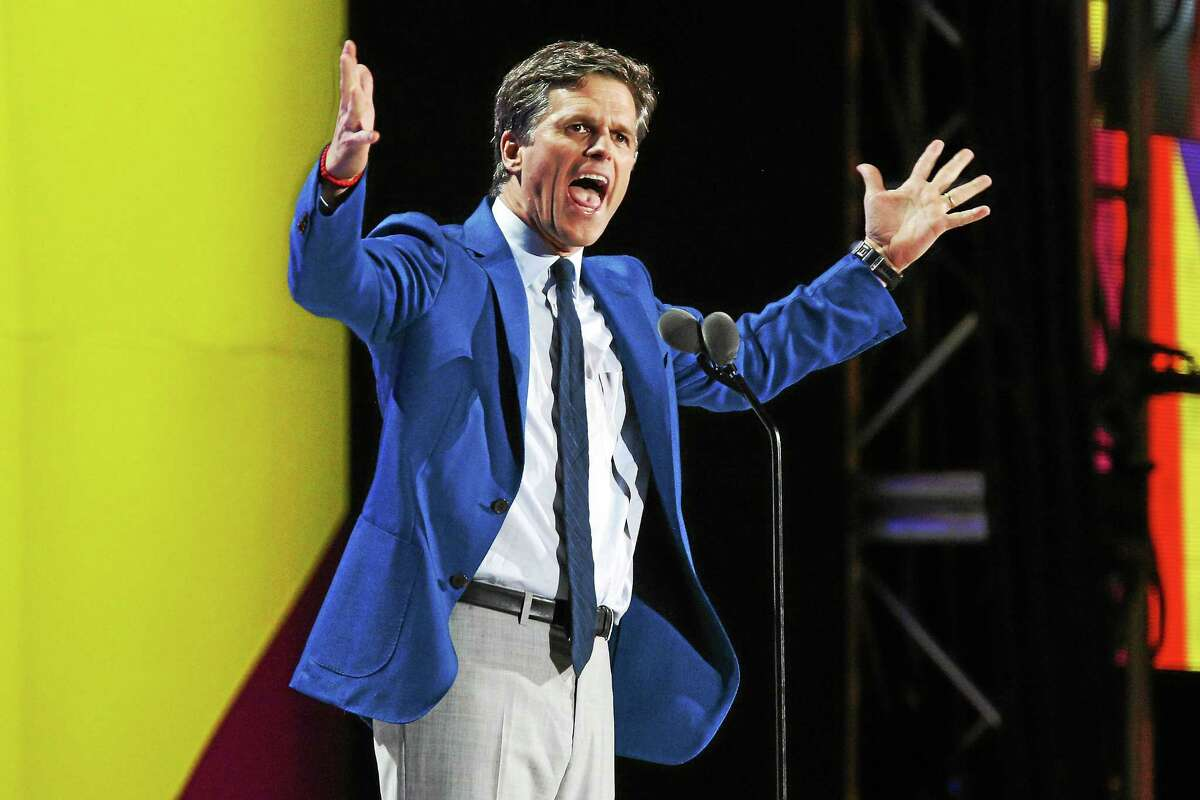 Tim Shriver speaks at the opening ceremony of the Special Olympics World Games at Los Angeles Memorial Coliseum on July 25 in Los Angeles.