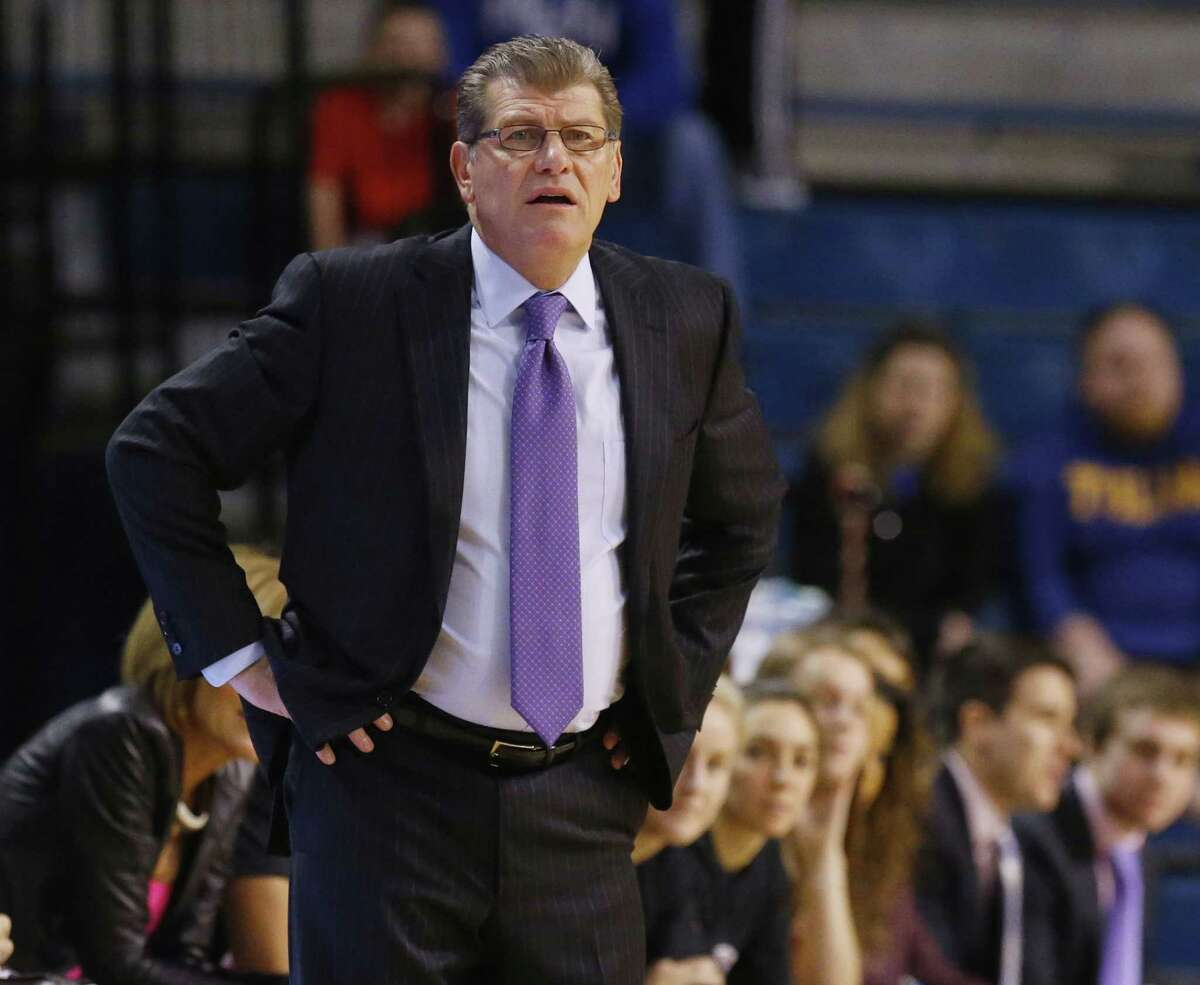 UConn coach Geno Auriemma and the top-ranked Huskies will take on Cincinnati in the quarterfinals of the AAC tournament on Saturday afternoon.