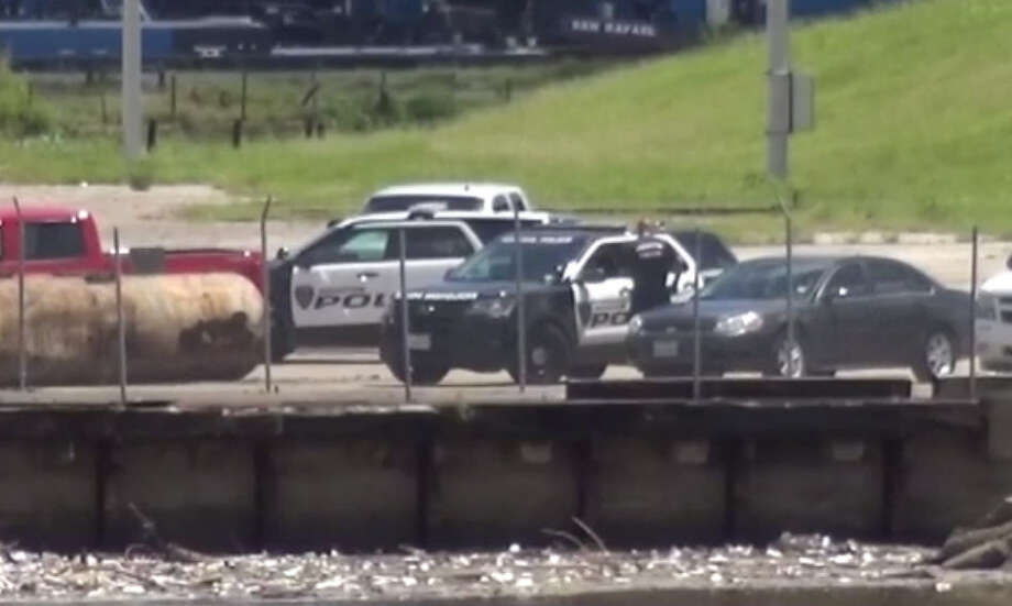 A body was reportedly found floating Saturday morning in the Houston Ship Channel, according to a spokeswoman from the Port Houston. Photo: Metro Video