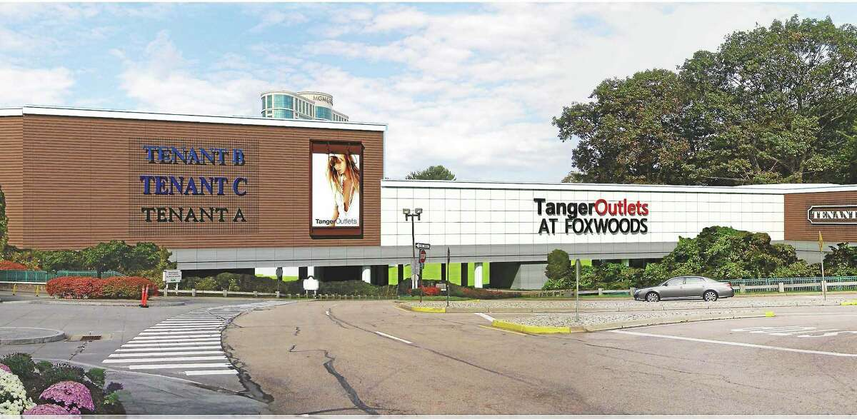A rendering of a portion of the outlet complex under construction at Foxwoods Resort Casio in Ledyard.