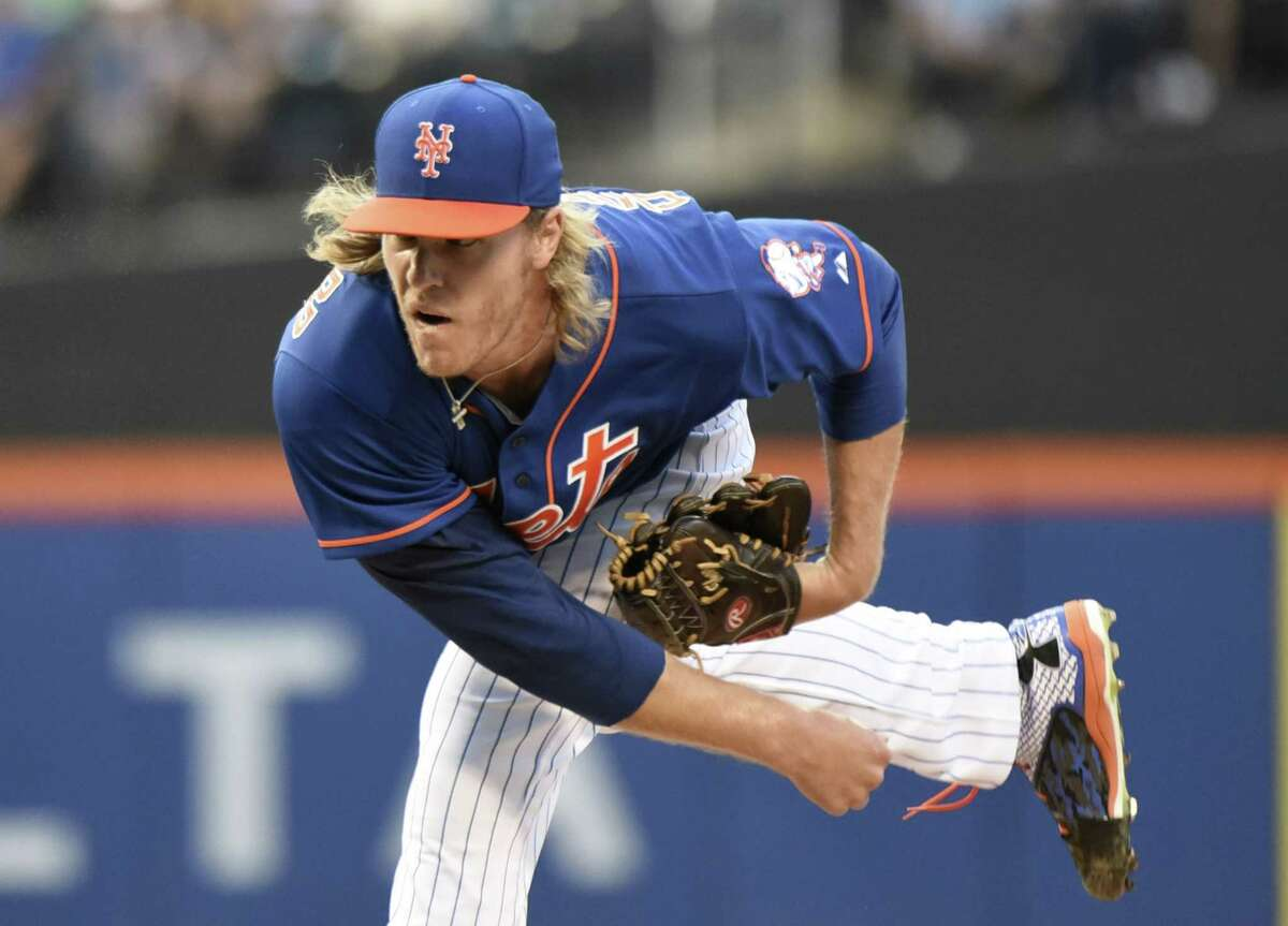 New York starter Noah Syndergaard delivers during the first inning of Friday's win over the Arizona Diamondbacks at Citi Field in Queens.