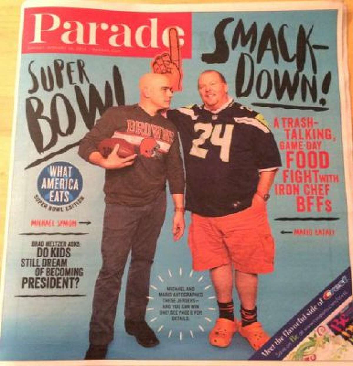At least Michael Symon, left, had the sense not to diss Denver.