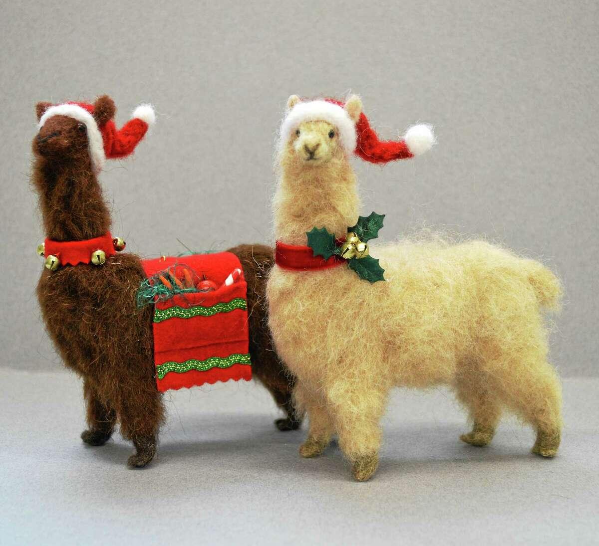 Contributed photo Holly Bollier's Alpaca Santas.
