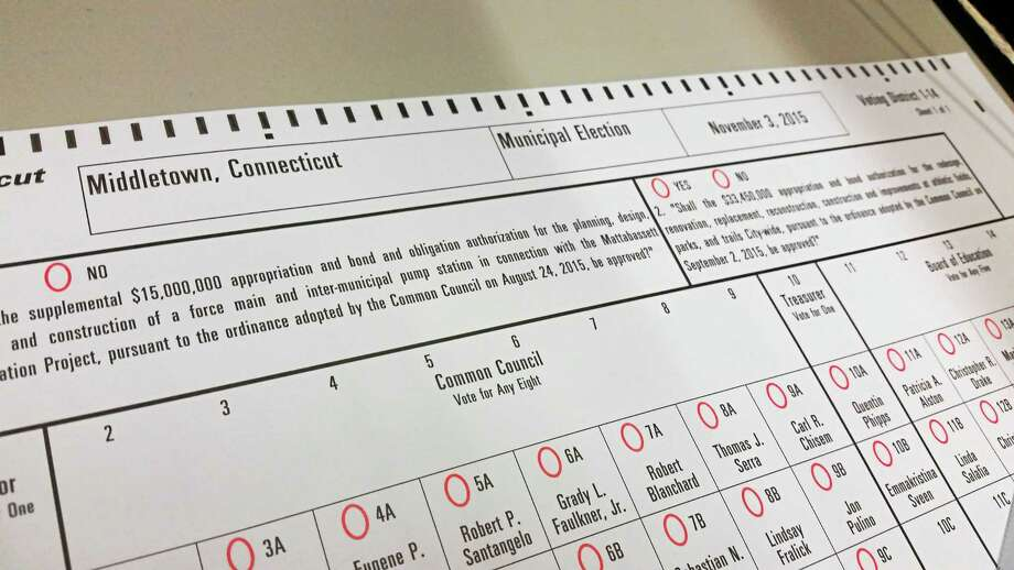 Middletown voters consider two referendum questions on Election Day, involving the sewer connection and city parks and sports fields. Photo: Journal Register Co.